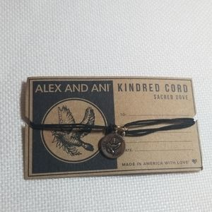 NWT ALEX AND ANI Corded Sacred Dove Bracelet